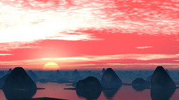 Fantastic city. Sunrise Stock Video Footage