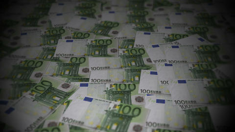 100 euros travelling 02 Stock Video Footage