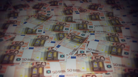 50 euros travelling 01 Stock Video Footage
