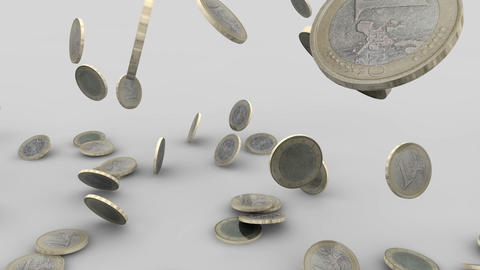 Euro coins rain 04 Animation