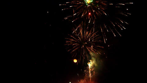 fireworks 18 Stock Video Footage