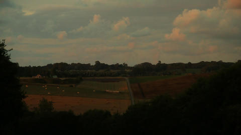 countryside sunset timelapse 02 Stock Video Footage