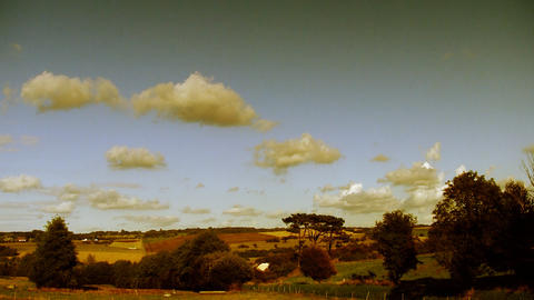 countryside cloudscape timelapse 02 Stock Video Footage