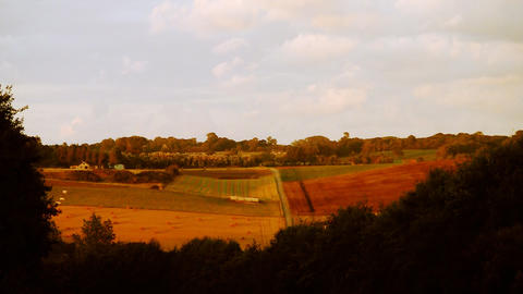 countryside cloudscape 02 Stock Video Footage
