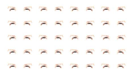 Multiple eyes 01 Stock Video Footage