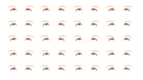 Multiple eyes 01 Animation