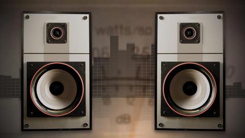 Old Speakers 01 Stock Video Footage