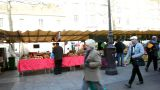 Visiting a french market Footage