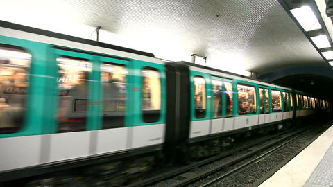 Metrostation in Paris Stock Video Footage