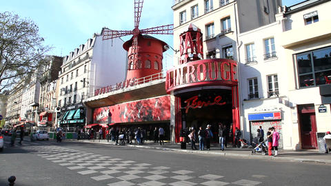 Moulin Rouge Stock Video Footage