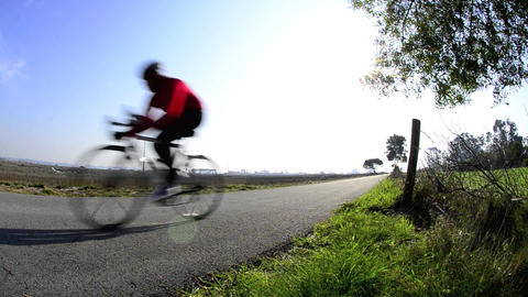 Cyclist Stock Video Footage