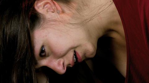 Very sad girl crying Stock Video Footage