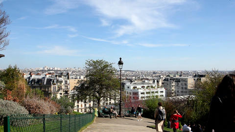 View from Sacre Coeur Stock Video Footage