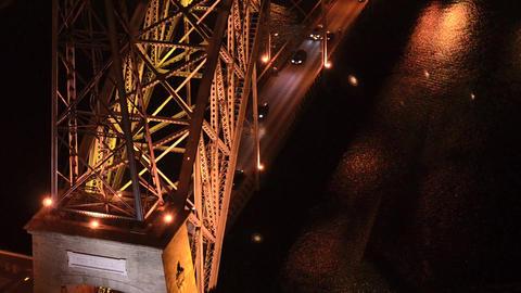 Dom Luis I bridge at night Stock Video Footage