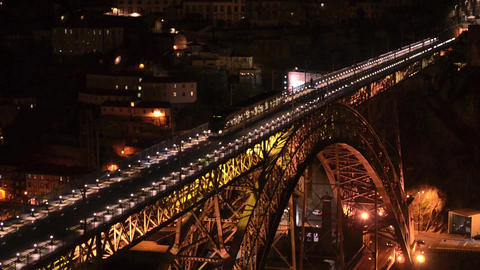 Dom Luis I bridge at night Footage