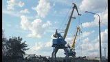 Port crane timelapse Footage