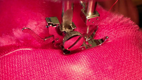 Close up on sewing machine Footage