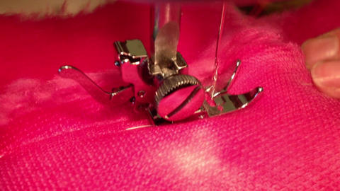 Close up on sewing machine Stock Video Footage