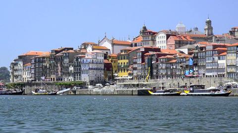 Douro river architecture scenic Stock Video Footage