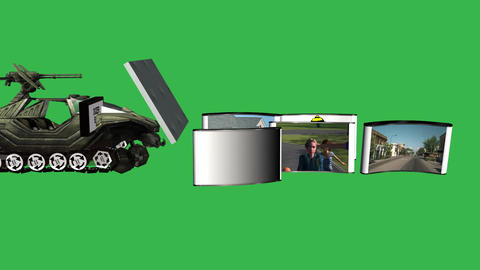 construction greenscreen Stock Video Footage