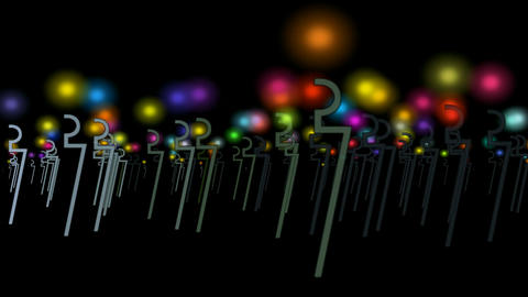 animation of light and metal stick,prayer for... Stock Video Footage