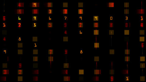 number and color morph square... Stock Video Footage
