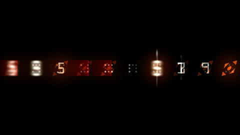 random number morph square... Stock Video Footage