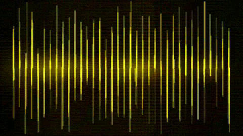 yellow metal equalizer and number,music rhythm Volume... Stock Video Footage