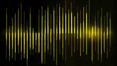 yellow metal equalizer and number,music rhythm Volume waves,cable fiber optic Animation
