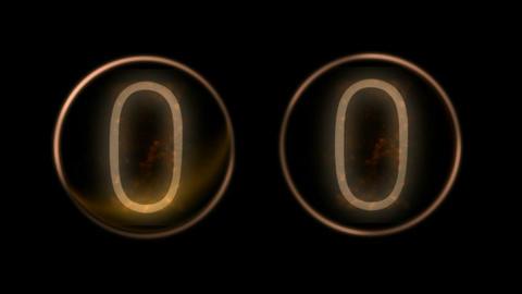 Random number change.mathematics,countdown golden... Stock Video Footage