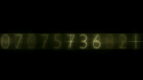 Random number change Stock Video Footage