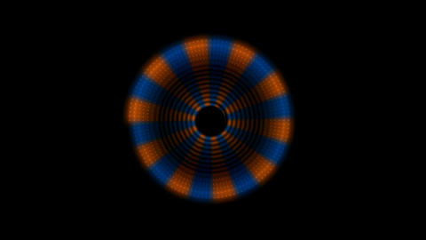 Spin circle fancy pattern Stock Video Footage