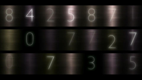 number Stock Video Footage
