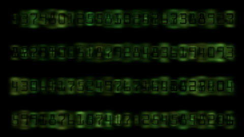 Digital Matrix number Animation