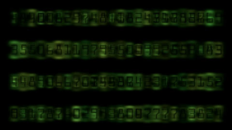 Digital Matrix number Stock Video Footage