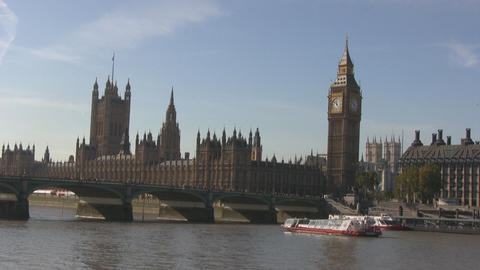 London Westminste and Big Ben Stock Video Footage