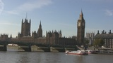 London Westminste And Big Ben stock footage