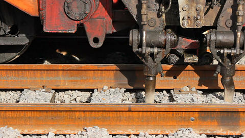 Ballast tamping Stock Video Footage