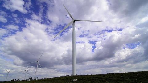 Wind turbine farm Stock Video Footage