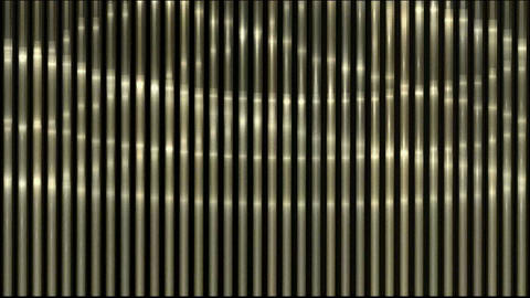waving light on metal strips Stock Video Footage