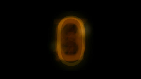 video of countdown golden figure,scanning,detection,calculation,password,Minutes,hours,seconds Animation