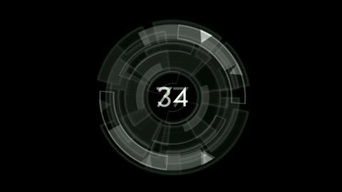 rotation software interface with number Stock Video Footage