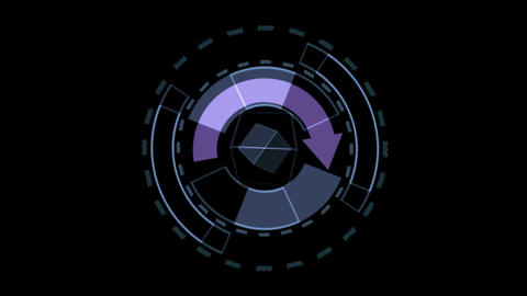 Rotation software interface Stock Video Footage