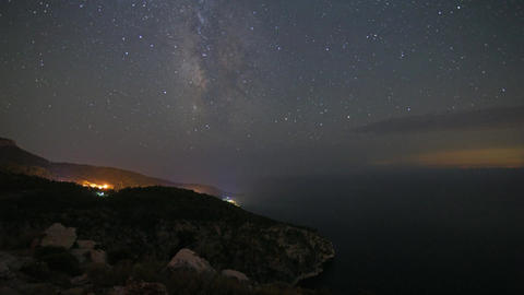 Butterfly Valley With Milkyway stock footage