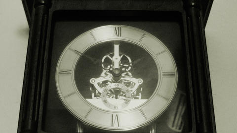 Old Fashioned Traditional Antique Clock stock footage
