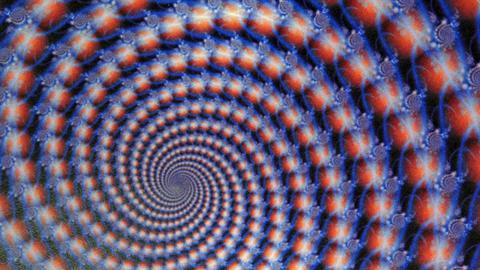 Fractal Blue Globes Spiraling Animation Background Footage