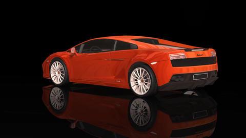 Luxury Sport Car Lamborgini Orange Color Moving Rotation stock footage