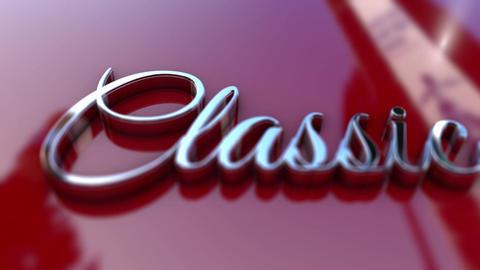 Classic 3D Text Car Logo Super HD stock footage