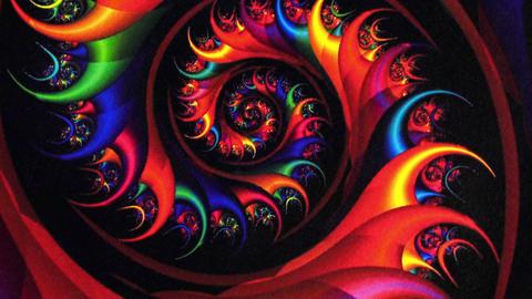 Fractal Red Vortex Spinning Background stock footage