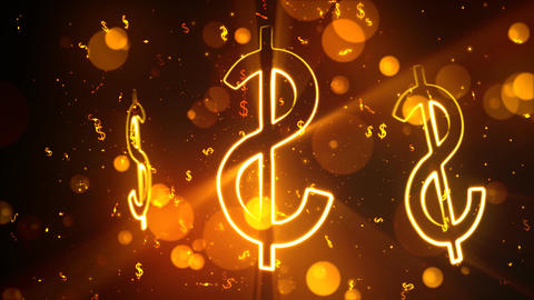 Bright Dollars 1– Loopable Background stock footage